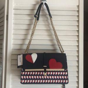 NWT Nine West West Baldree Heart  shoulder bag!